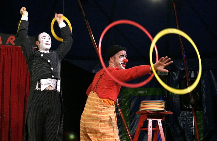 Duo de clowns pour l'arbre de Noël