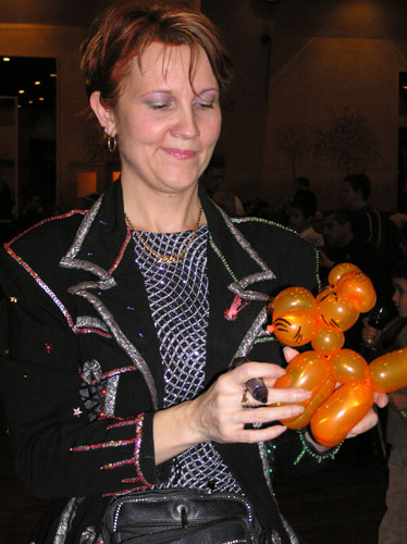 Tigre en sculpture sur ballons