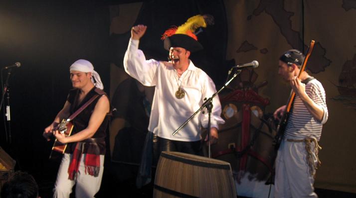 Spectacle musical sur le thème des pirates