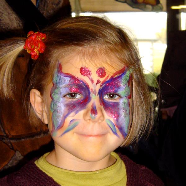 Maquillage artistique enfants pour Arbre de Noël